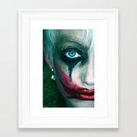 the joker Framed Art Prints featuring Joker by Imustbedead
