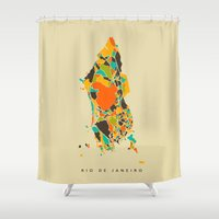 rio Shower Curtains featuring Rio  by Nicksman