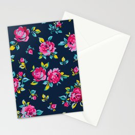 Raspberry Roses Stationery Cards