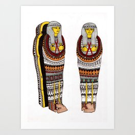 Decorative Mummy Cases Art Print