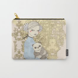 Girl with Panda Carry-All Pouch