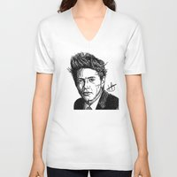 niall V-neck T-shirts featuring Niall Horan by Hollie B