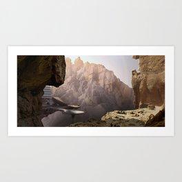 Mountain door Art Print