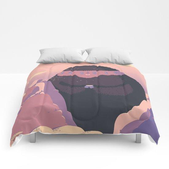 Cozy mountain monster Comforters