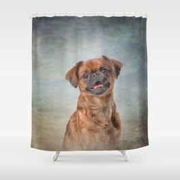Drawing Dog breed Griffon Brabanson Shower Curtain