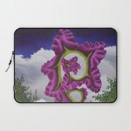 Purple Poppy Flower Laptop Sleeve