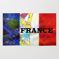 france Area & Throw Rugs featuring FRANCE by Brian Raggatt