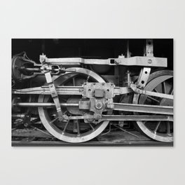 locomotive wheels Canvas Print