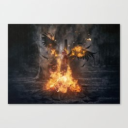 Pyre of Gods Canvas Print