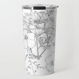 Floral field pattern Travel Mug