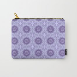 Pretty Floral Pattern in Lavender Carry-All Pouch