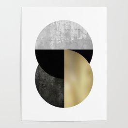Moon Phase, Mid Century Modern,Scandinavian Abstract Poster