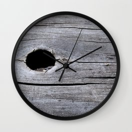 Hole in the tree trunk Wall Clock