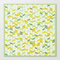 herringbone Canvas Prints featuring Herringbone by Jaybeak