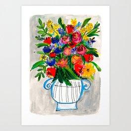Wildflowers in a vase Art Print