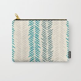 Herringbone bamboo leaves Carry-All Pouch