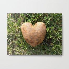 Heart Shaped Potato Metal Print