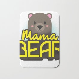 Mama Bear Mothers Day Gift - Shirt Bath Mat