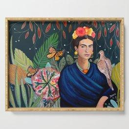 Frida et sa nature vivante Serving Tray