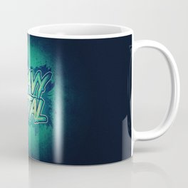 HEAVY METAL! ( Green Splatter Typo Design ) Coffee Mug