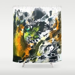 Eye of the Leopard Shower Curtain