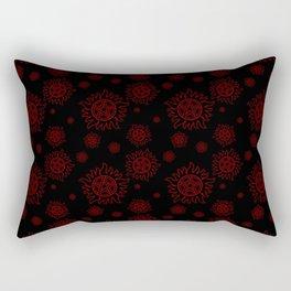 Anti Possession Pattern Red Glow Rectangular Pillow