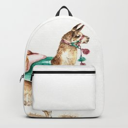 Watercolor Llama Backpack