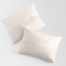 Color Block Lines IX Subtle Off White Pillow Sham