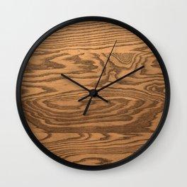 Wood, heavily grained wood grain Wall Clock
