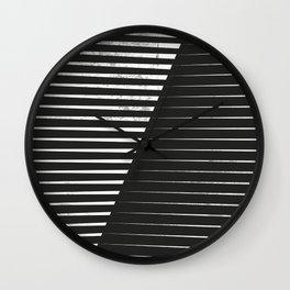 Black vs. White Wall Clock