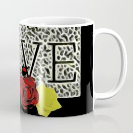 Leopard Love Sign With Rose Decoration Coffee Mug