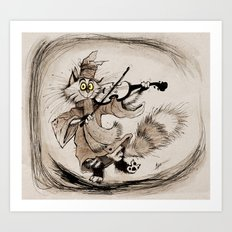 The Cat and the Fiddle Art Print