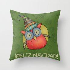 Puki Owl Throw Pillow