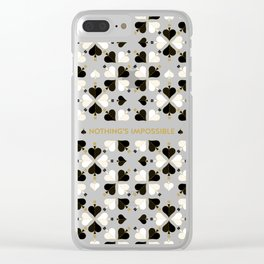 Nothing's Impossible Clear iPhone Case