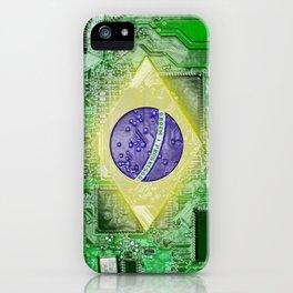 circuit board Brazil iPhone Case