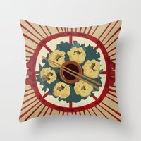 food Throw Pillows featuring Food by Tonz