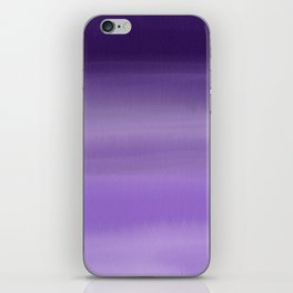 Modern painted purple lavender ombre watercolor iPhone Skin