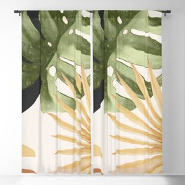 Abstract Art Tropical Leaves 22 Blackout Curtain