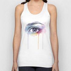 Colorful Eye Dripping Rainbow Unisex Tank Top