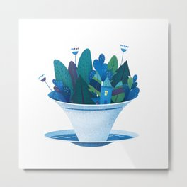 Forest in a Teacup Metal Print