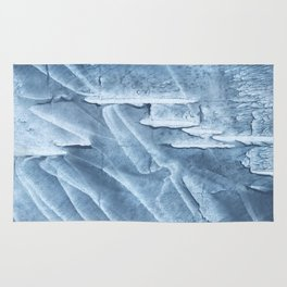 Light steel blue colored wash drawing texture Rug