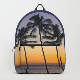 Palm Trees w/ Ombre Tropical Sunset - Hawaii Backpack
