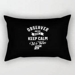 Observer Job Title Tee Gift For Mens Womens Rectangular Pillow