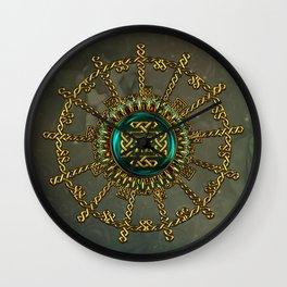 Wonderful elegant celtic kot Wall Clock