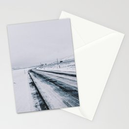Icy Road Stationery Cards