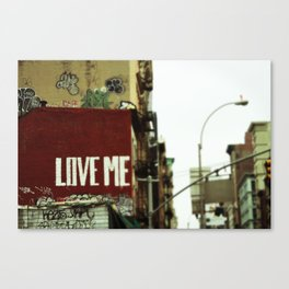 {love me} Canvas Print