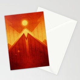 Mars - Olympus Mons Stationery Cards