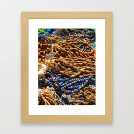 beads with dust that tell the age Framed Art Print