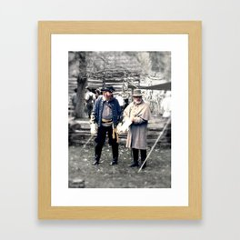 Civil War Reenactment Framed Art Print