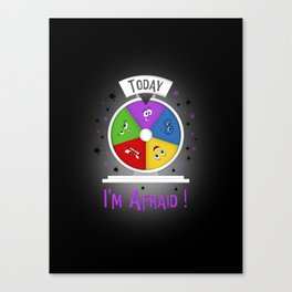 I am Afraid Canvas Print